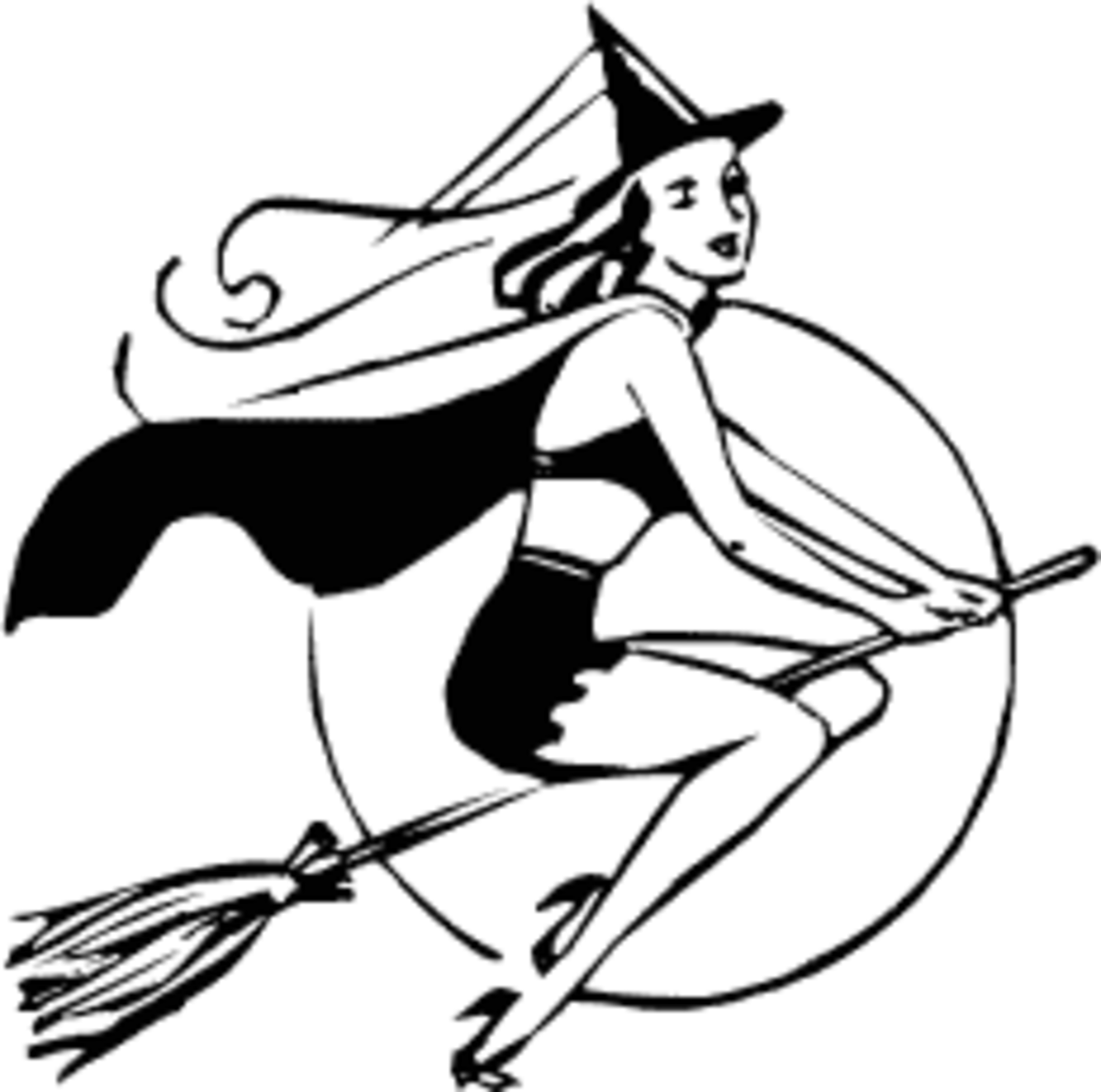Bewitched! This cute witch looks harmless.