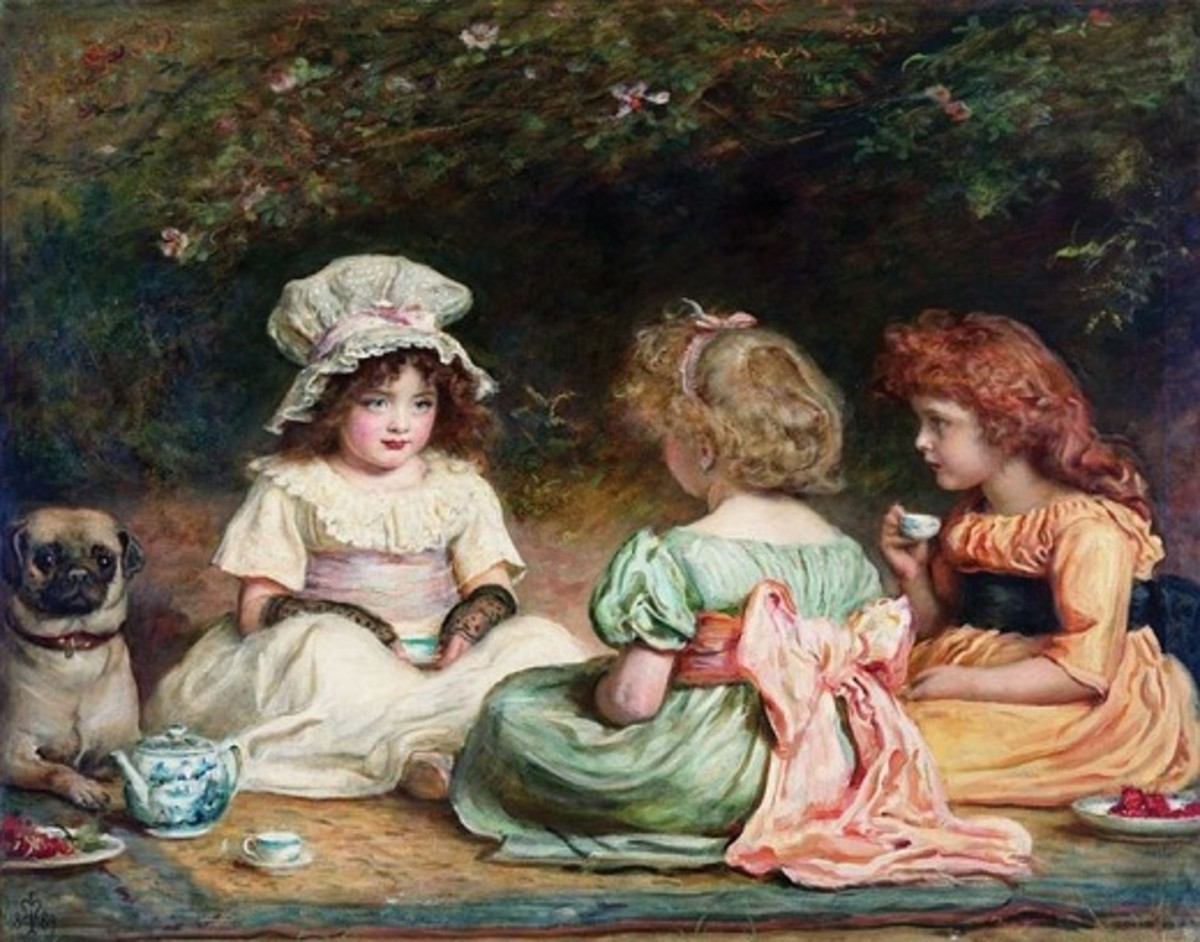 Afternoon Tea or The Gossips, painting by Sir John Everett Millais, (1829-1896)