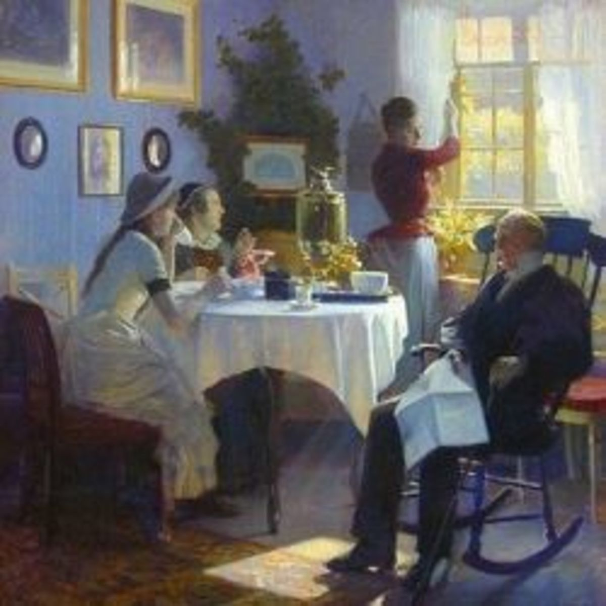 Sunday Afternoon Tea by Carl Thomsen (1847-1912)