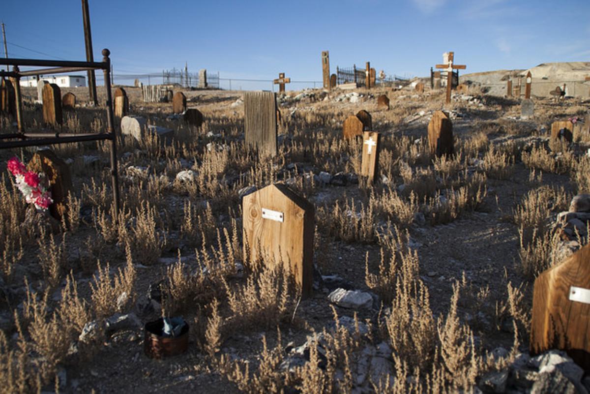A strangely full cemetery