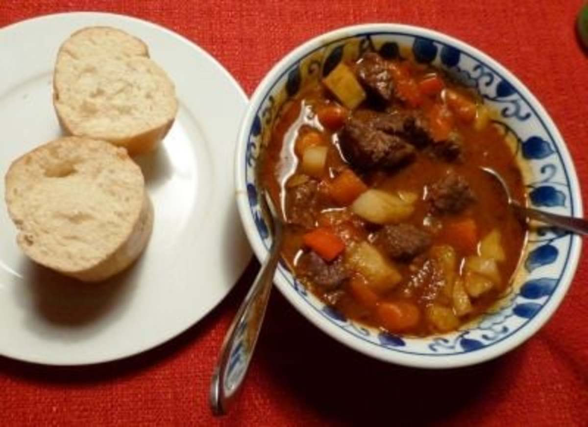 Step 9: Chow down and enjoy a satisfying bowl of svaory Hungarian Goulash