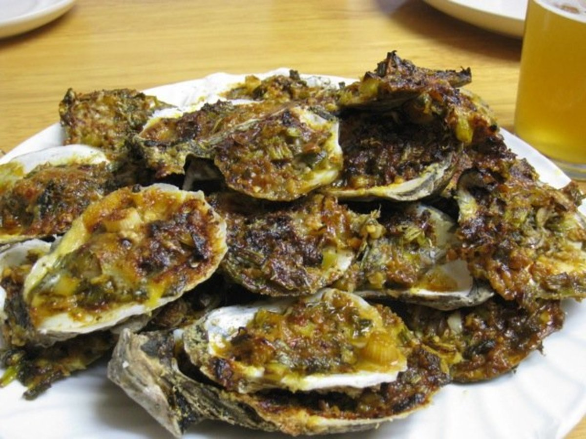 Char-grilled Oysters like in the photo are oh so delicious.