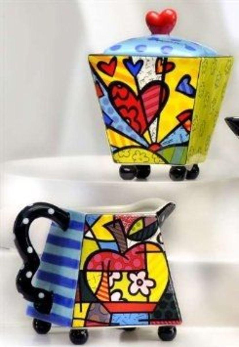 Romero Britto Creamer & Sugar Set is a great coffee drinkers gift idea.  The Romero Britto designs are fun and there are also mugs available.  The Photo Credit is Amazon.