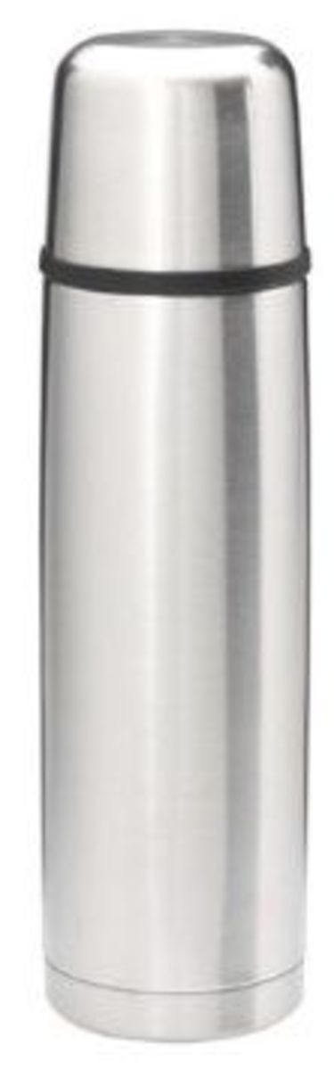 A Good Stainless Steel Themos Bottle Can Keep Liquids Hot or Cold For 12 to 24 Hours.  This Nissan Thermos is for sale on this page and the Photo Credit is Amazon.