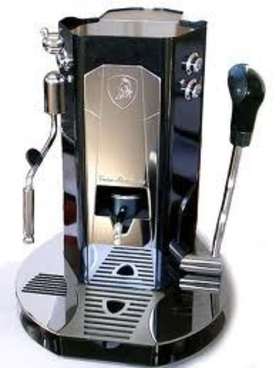 The Lamborghini Coffee Maker Photo Is From Lamborghinicaffe.com - click on the picture to go to that site.