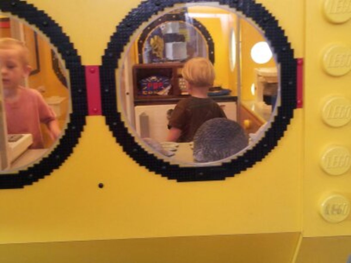 Lego Room - it was this vehicle that had the toilet...that picture didn't turn out...