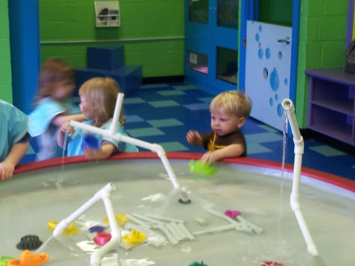 H20h Room - building different types of ways to move water...