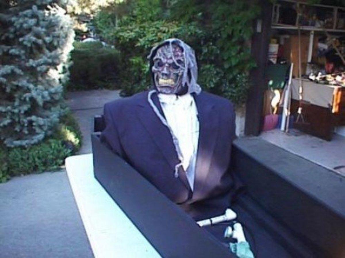 coffin halloween decoration