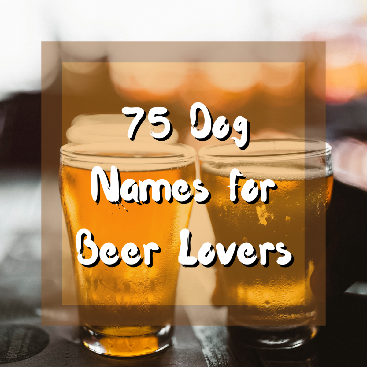 Read on to discover 75 great names for your dog that are inspired by all things beer! Beer lovers rejoice!