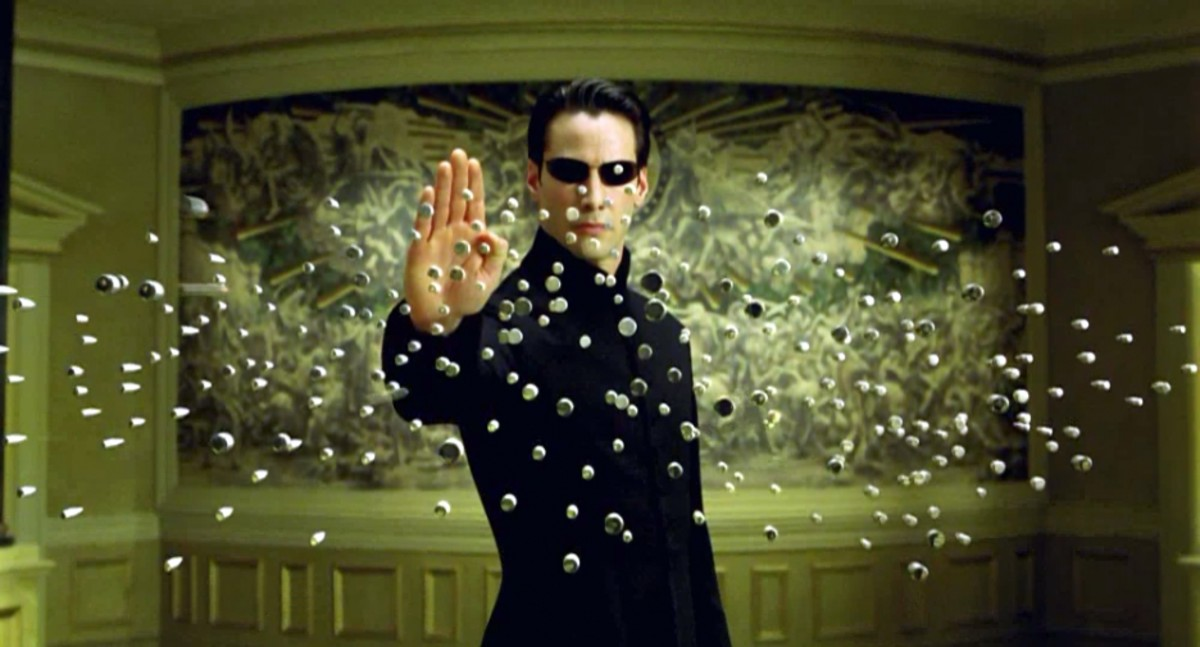 """Keanu Reeves in the """"Matrix"""" Movie Series makes everything come to a quick """"Pause""""!"""