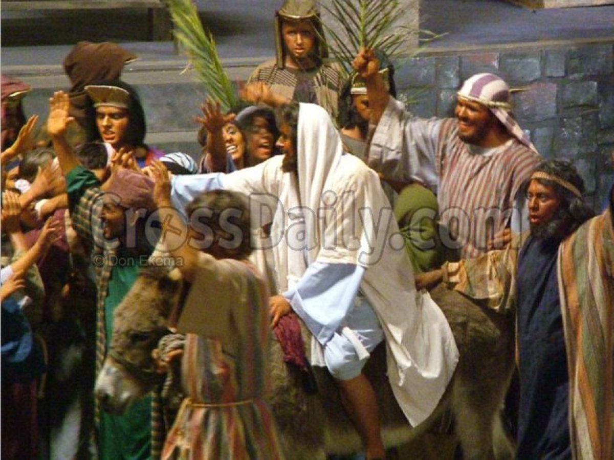 Jesus entering Jerusalem a week before He died on the Cross for OUR sins!