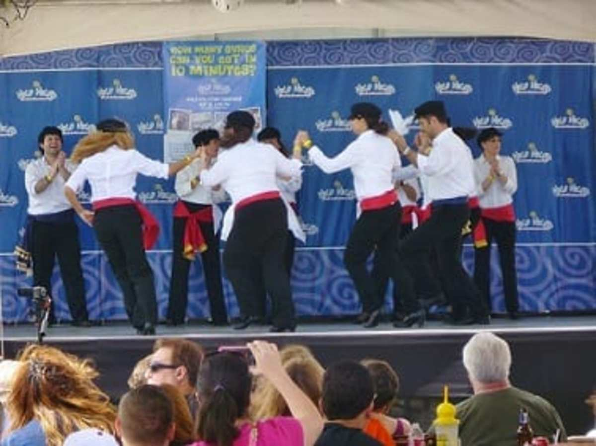 Dancers at the Greek Festival in West Houston