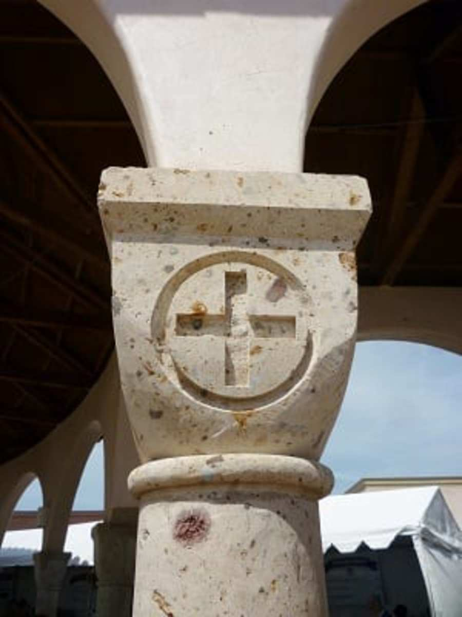 Carved columns at St. Basil the Great Greek Orthodox Church