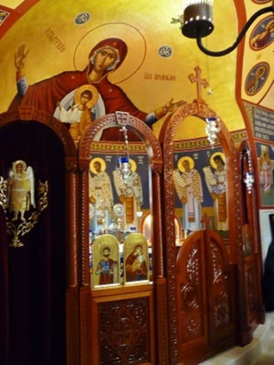 Inside the chapel at St. Basil the Great Greek Orthodox Church