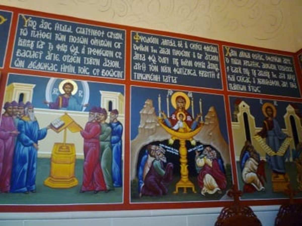 On wall of chapel at St. Basil the Great church