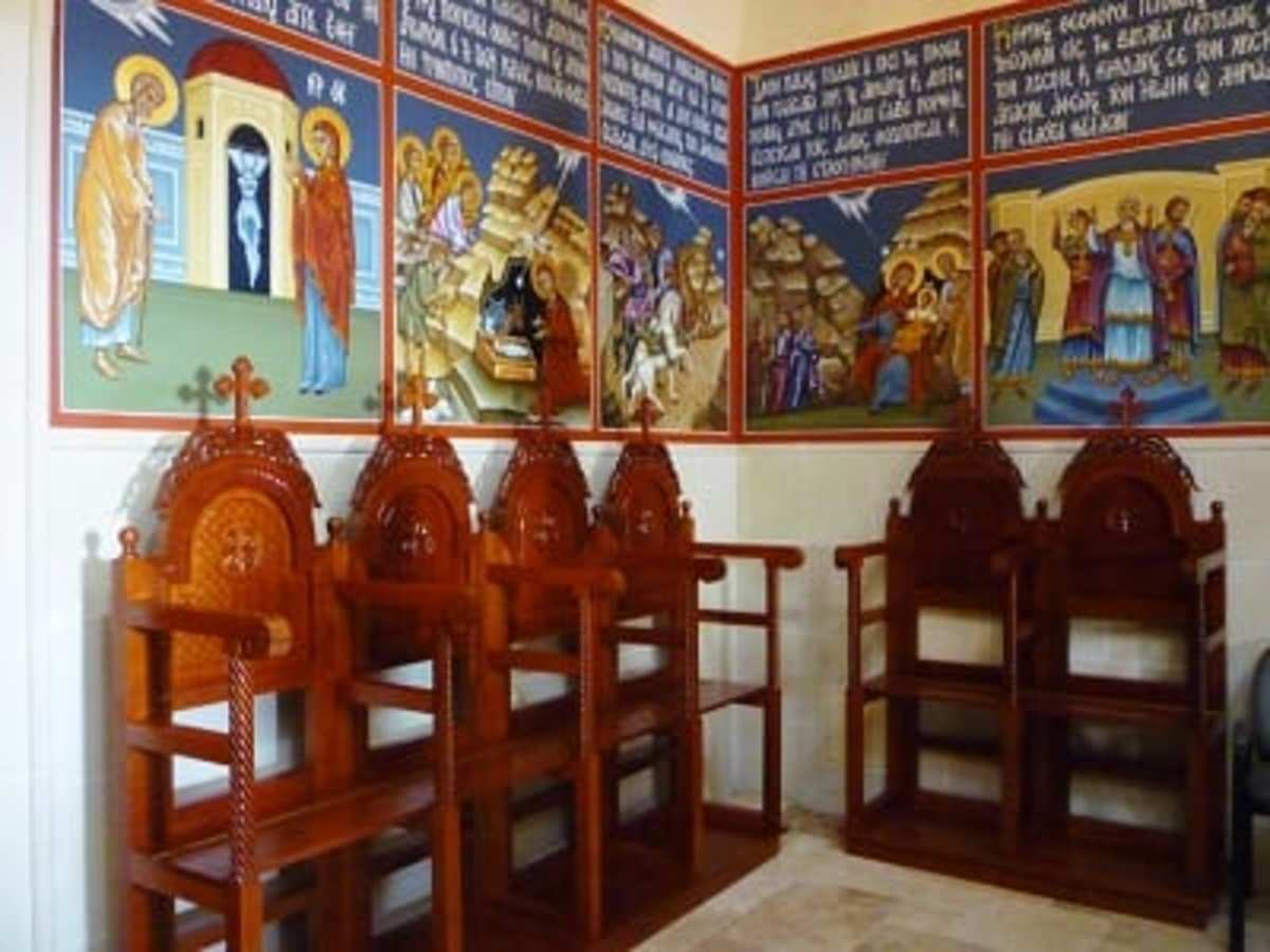 Back of chapel at St. Basil the Great Greek Orthodox Church