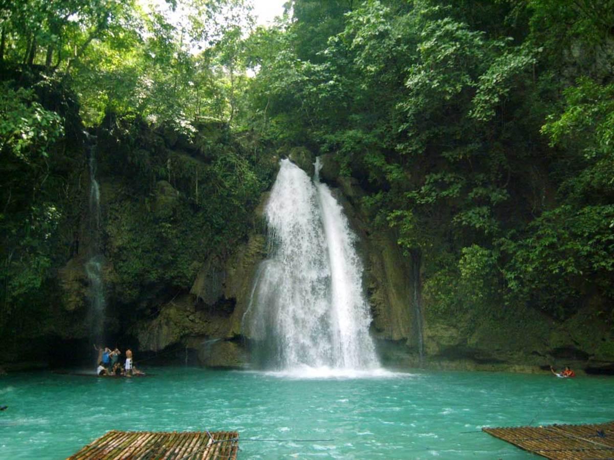 Kawasan Falls on Cebu Island, Philippines