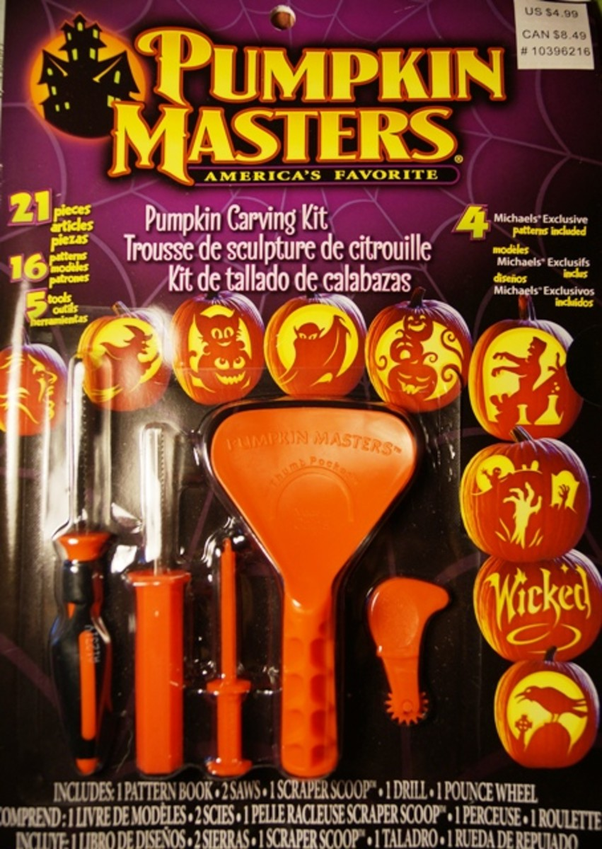 I had purchased a pumpkin carving kit from my nearest arts and crafts store.