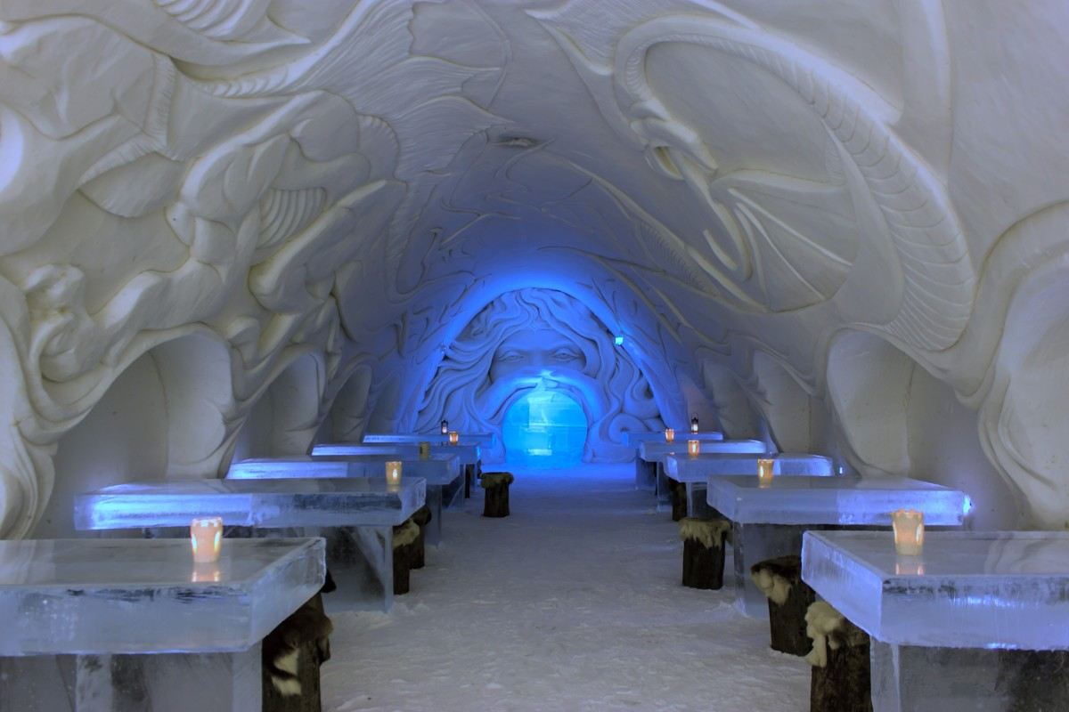 Snow Castle in Finland includes a number of different facilities along with the ice hotel.