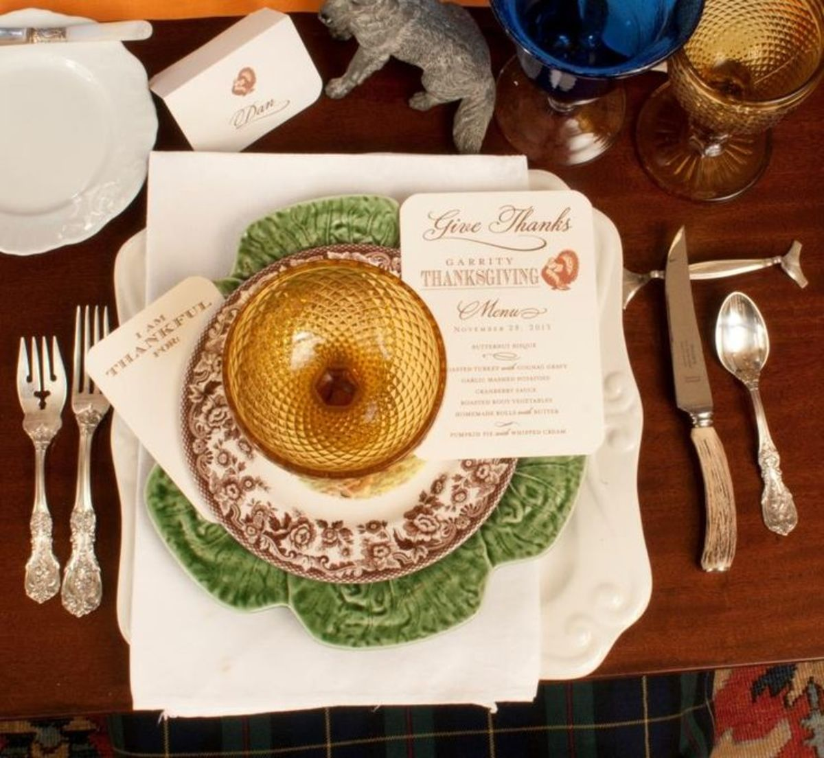 Use your best china and print out elegant menu and name cards.