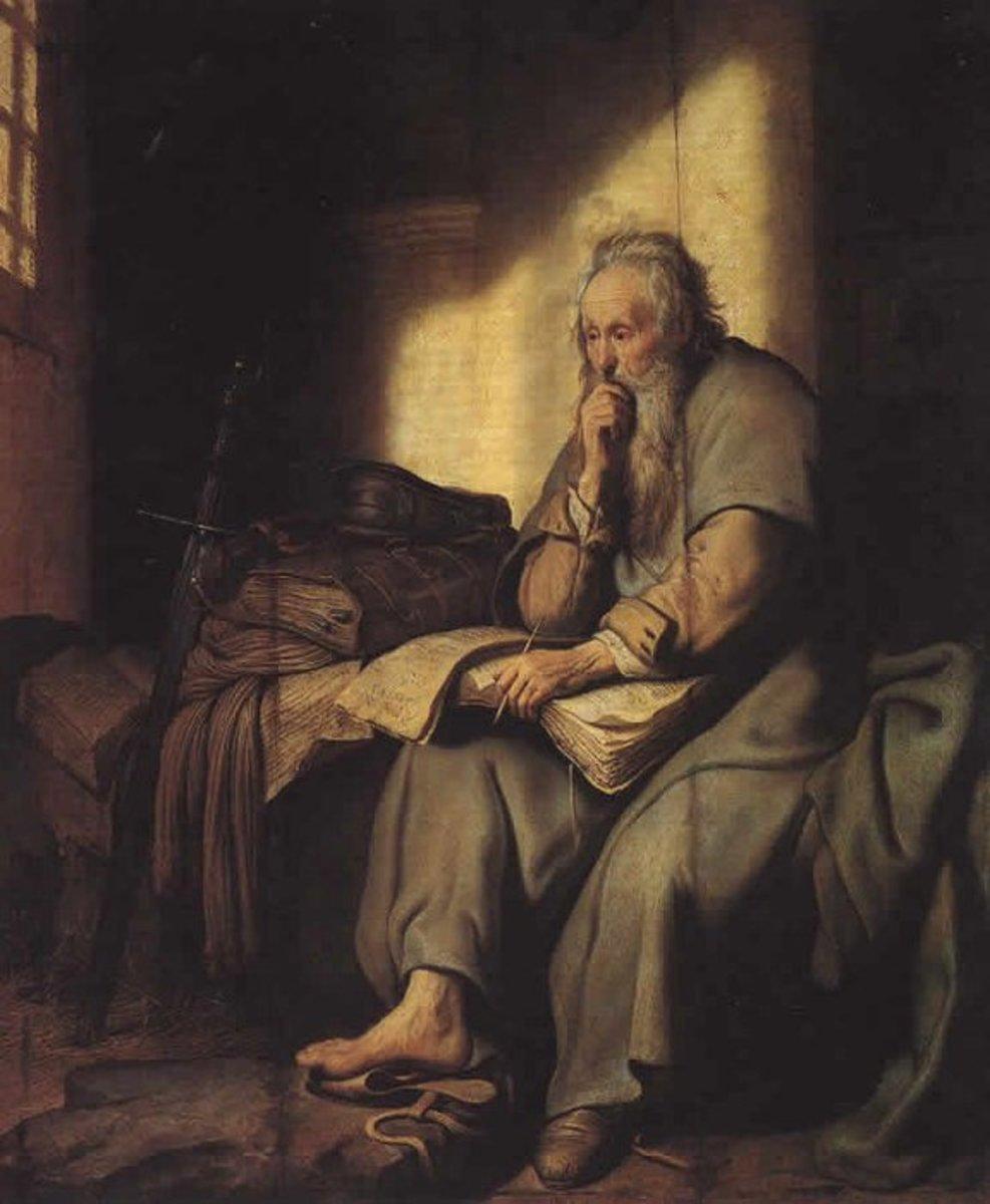 St Paul in Prison, Rembrandt Harmenszoon van Rijn (1606-1669)