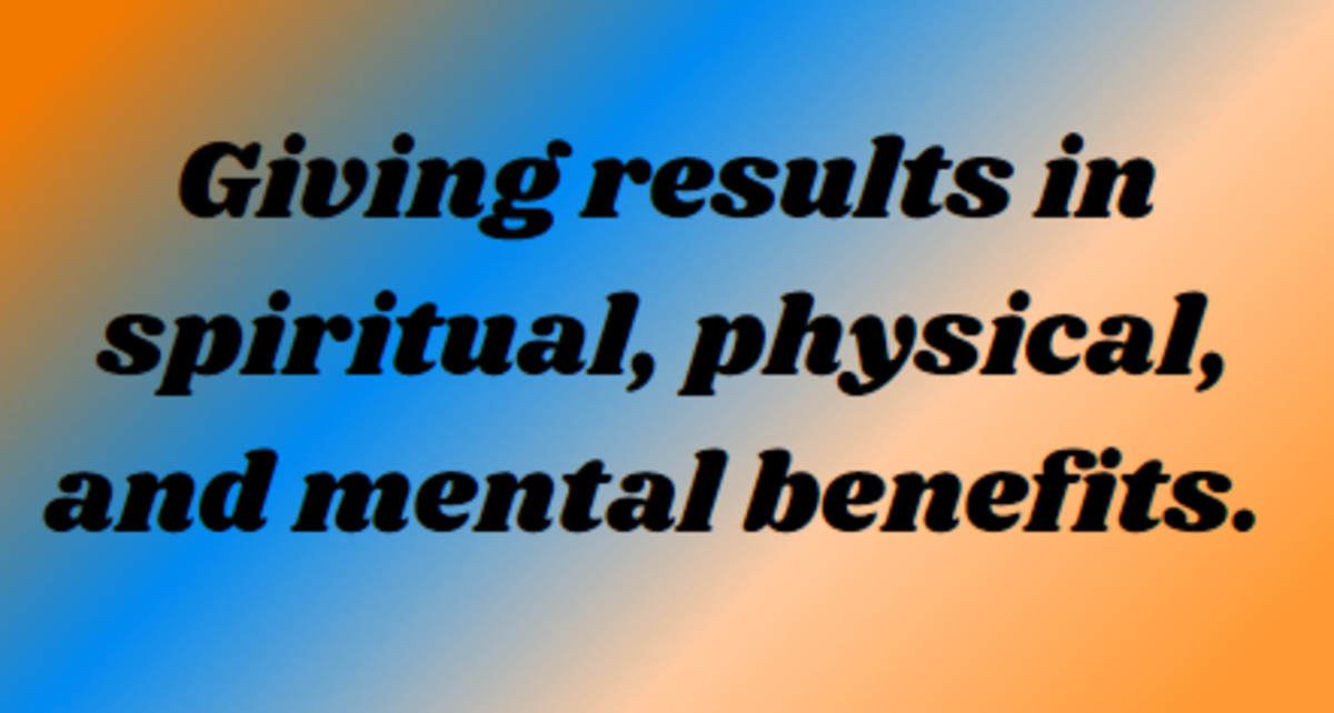 Giving Has Spiritual, Physical, and Mental Benefits