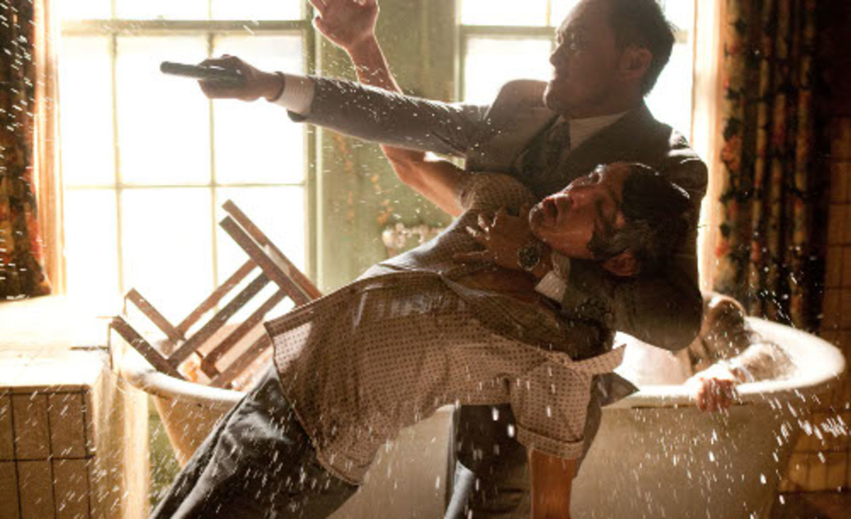 Ken Watanabe and Lukas Haas in Inception.