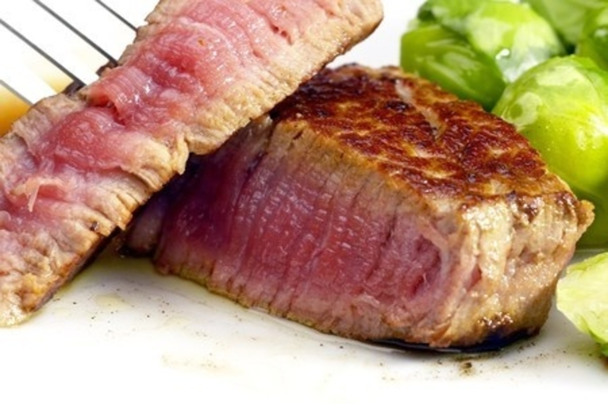 This lovely Filet Mignon may not be pure beef.  It could be Glued Meat!