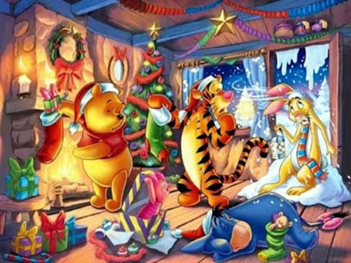 Christmas And Winter Winnie The Pooh Wallpapers Hubpages