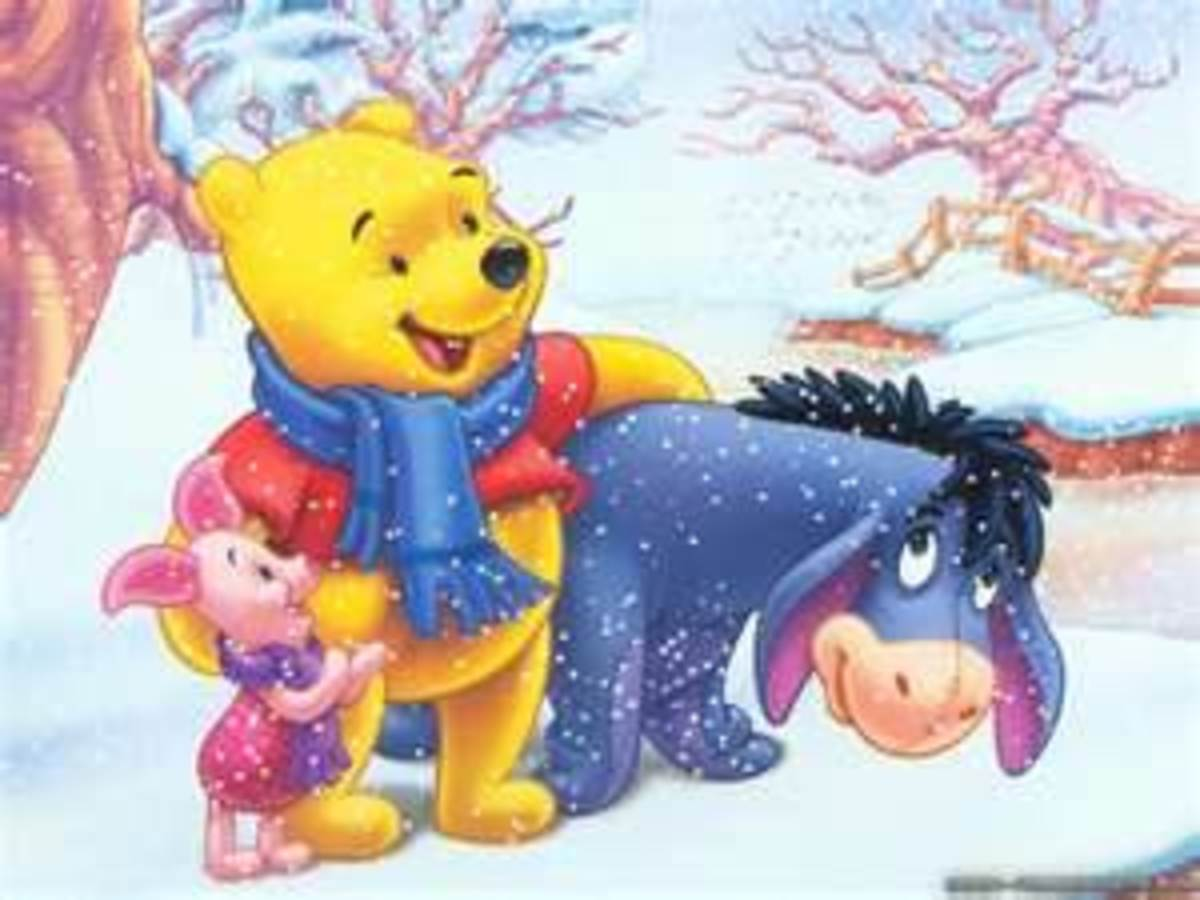 Christmas and Winter Winnie the Pooh Wallpapers