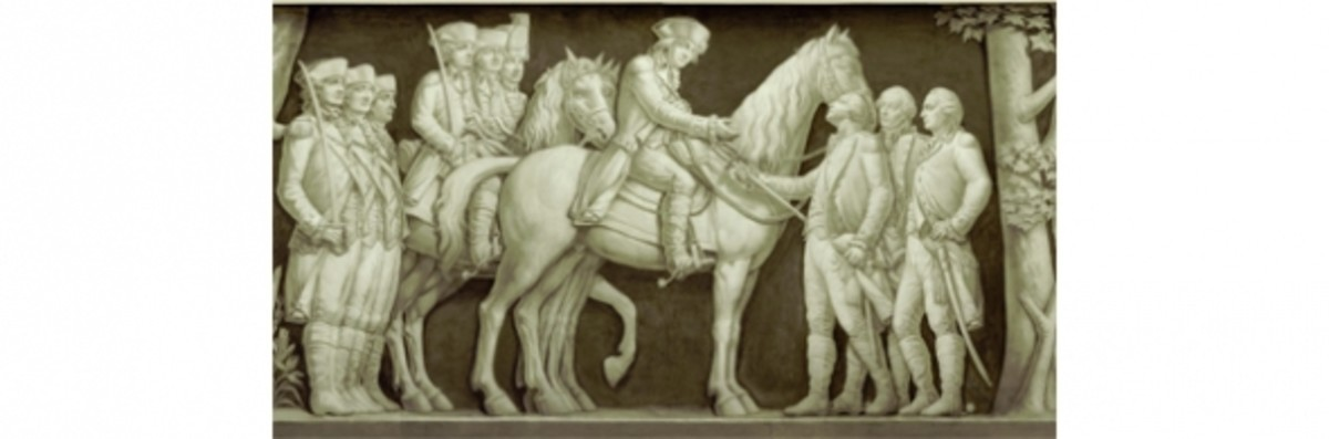 """13. """"Surrender of Cornwallis"""" (1781) Filippo Costaggini 1880-1889"""
