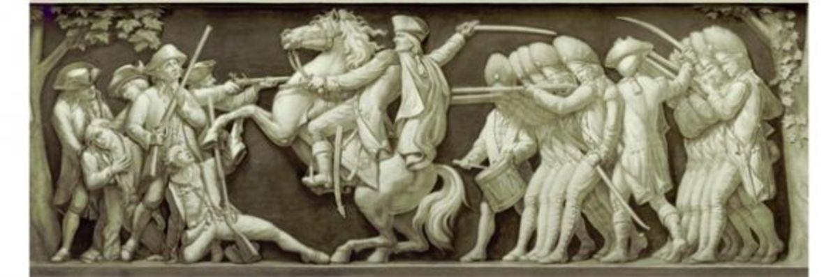 """11. """"Battle of Lexington"""" (1775) Filippo Costaggini 1880-1889"""