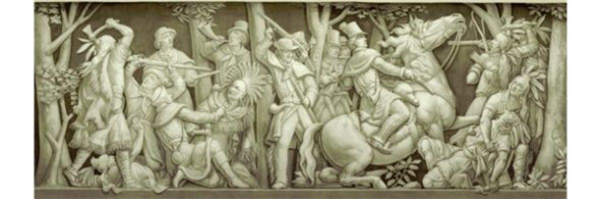 """14. """"Death of Tecumseh"""" (1813) Filippo Costaggini 1880-1889"""