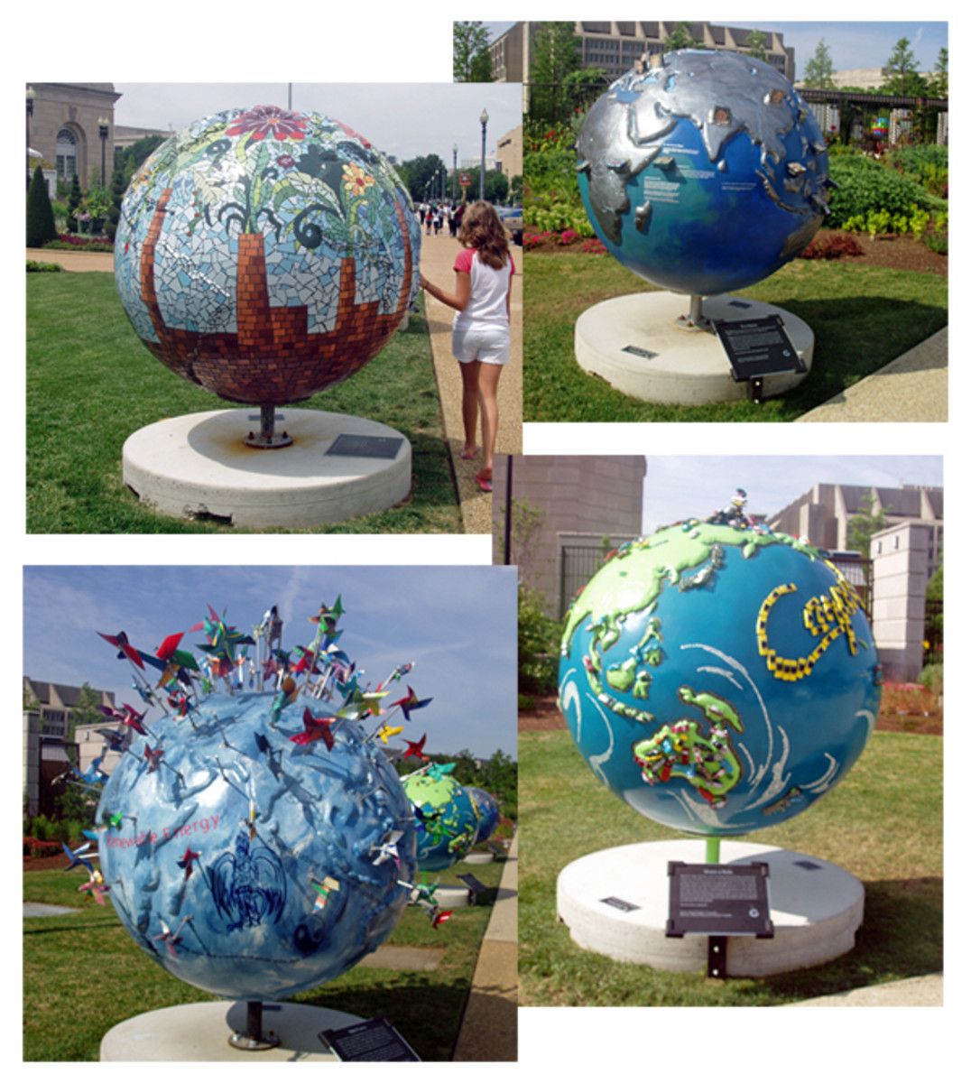 - Our visit was in 2008 during the Cool Globes exhibit. Below are photos I took while on our visit to the Botanic Garden 2008.