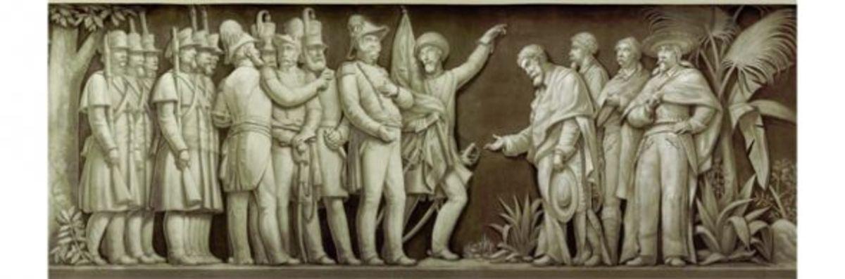 """15. """"American Army Entering the City of Mexico"""" (1847) Filippo Costaggini 1880-1889"""