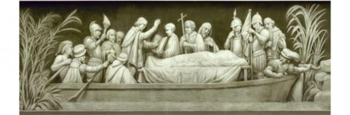 "5. ""Burial of DeSoto"" (1542) Constantino Brumidi 1878-1880"