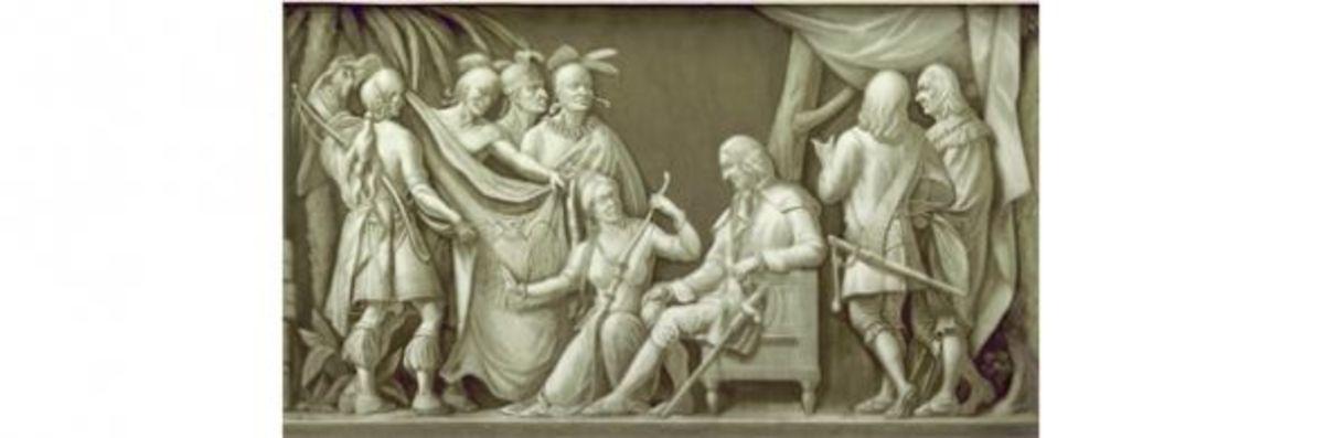 "10. ""Oglethorpe and the Indians"" (1732) Filippo Costaggini 1880-1889"