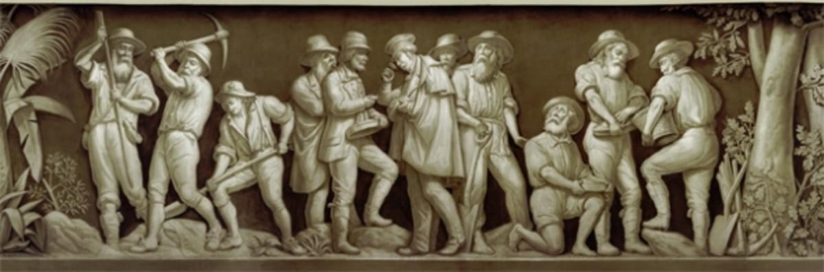 """16. """"Discovery of Gold in California"""" (1848) Filippo Costaggini 1880-1889"""