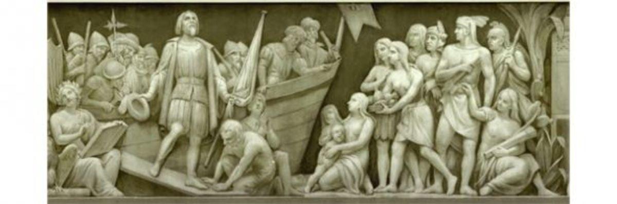 """2. """"Landing of Columbus"""" (1492) Constantino Brumidi 1878-1880"""
