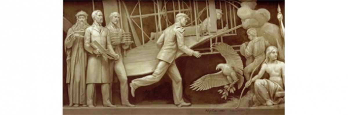 """19. """"The Birth of Aviation"""" (1903) Allyn Cox 1951-1953 Architect of the Capitol"""