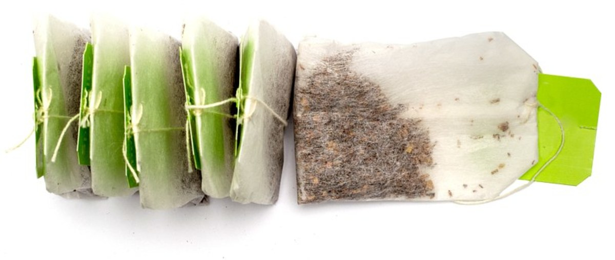 Green tea bags, it can help you lose some weight