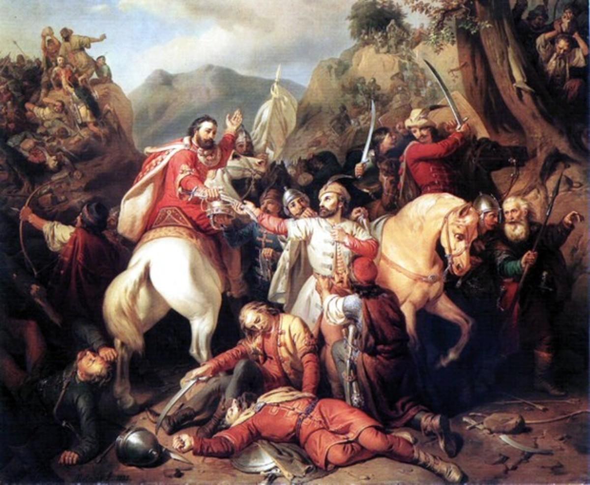 King Charles at the Battle of Posada