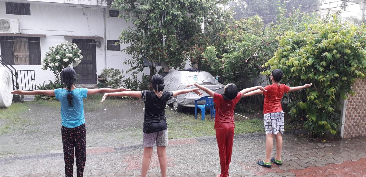 Enjoy rain enjoy life
