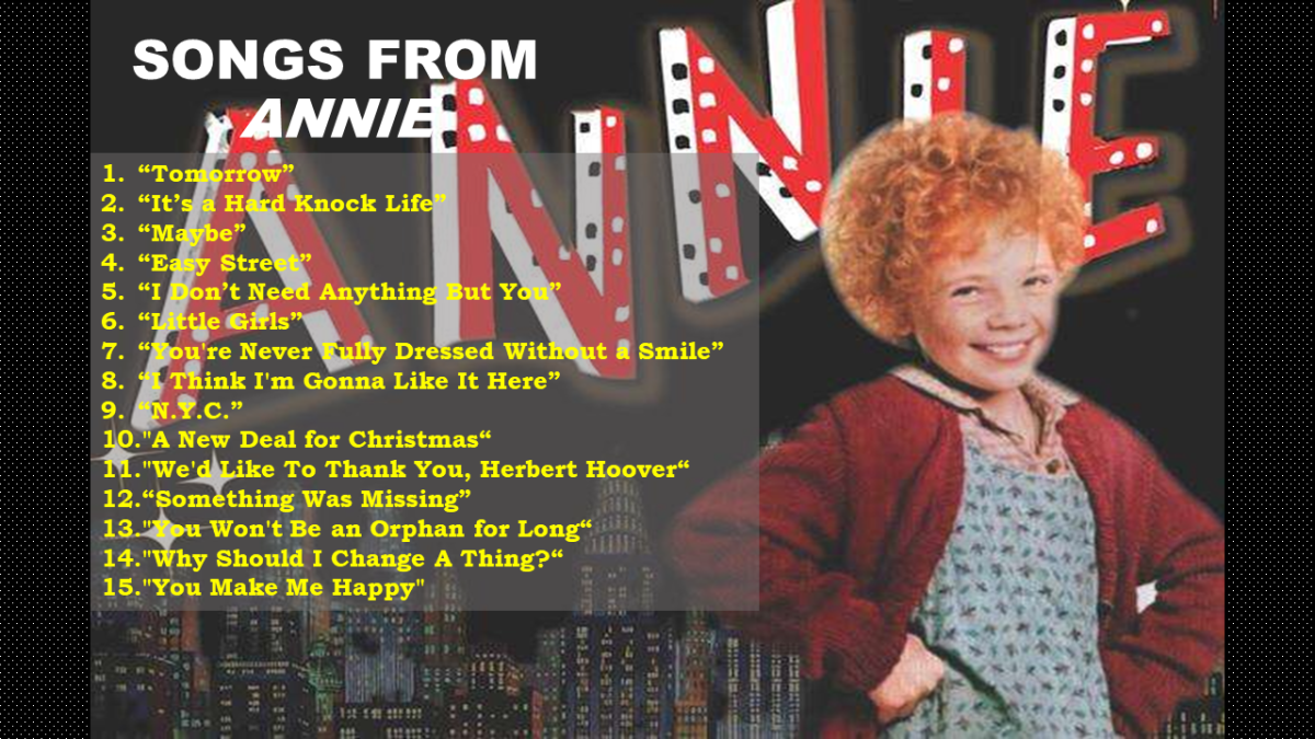 31 Songs from Annie (Musical and Movie)