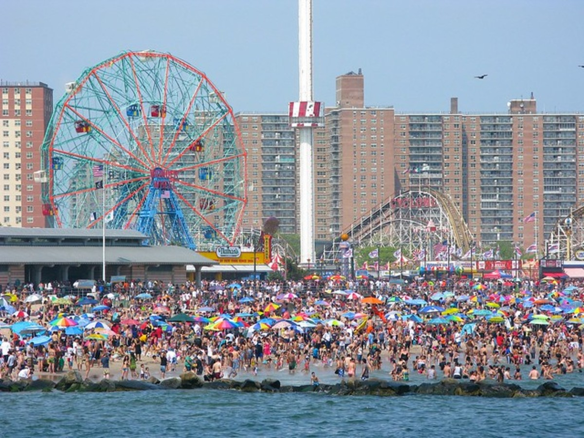 Memorial Day at NYC Coney Island and Luna Park in 2012.