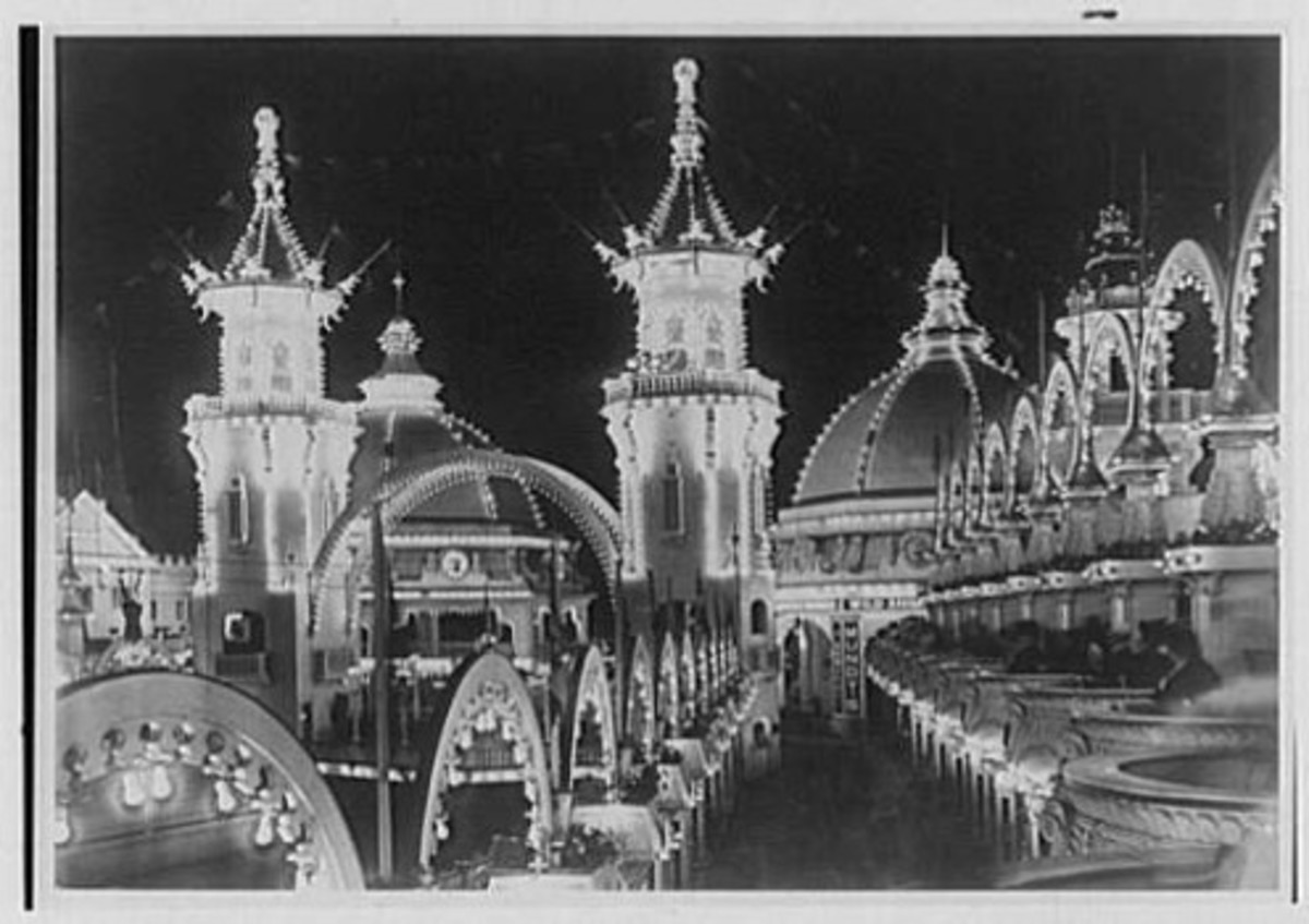 Luna Park, NYC: Coney Island long ago.. Today, the park is all new and colorful!