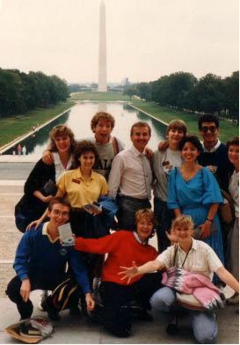 Up With People, Cast D,  in Washington DC, Sept. 1986
