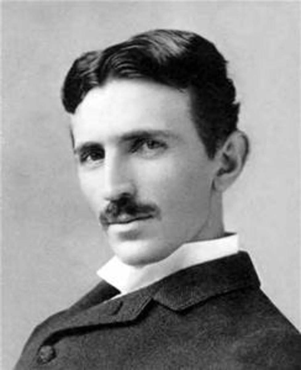 A young Nikola Tesla presented a striking figure.