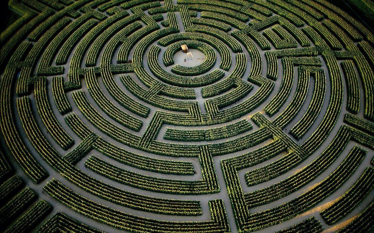 Garden maze in France