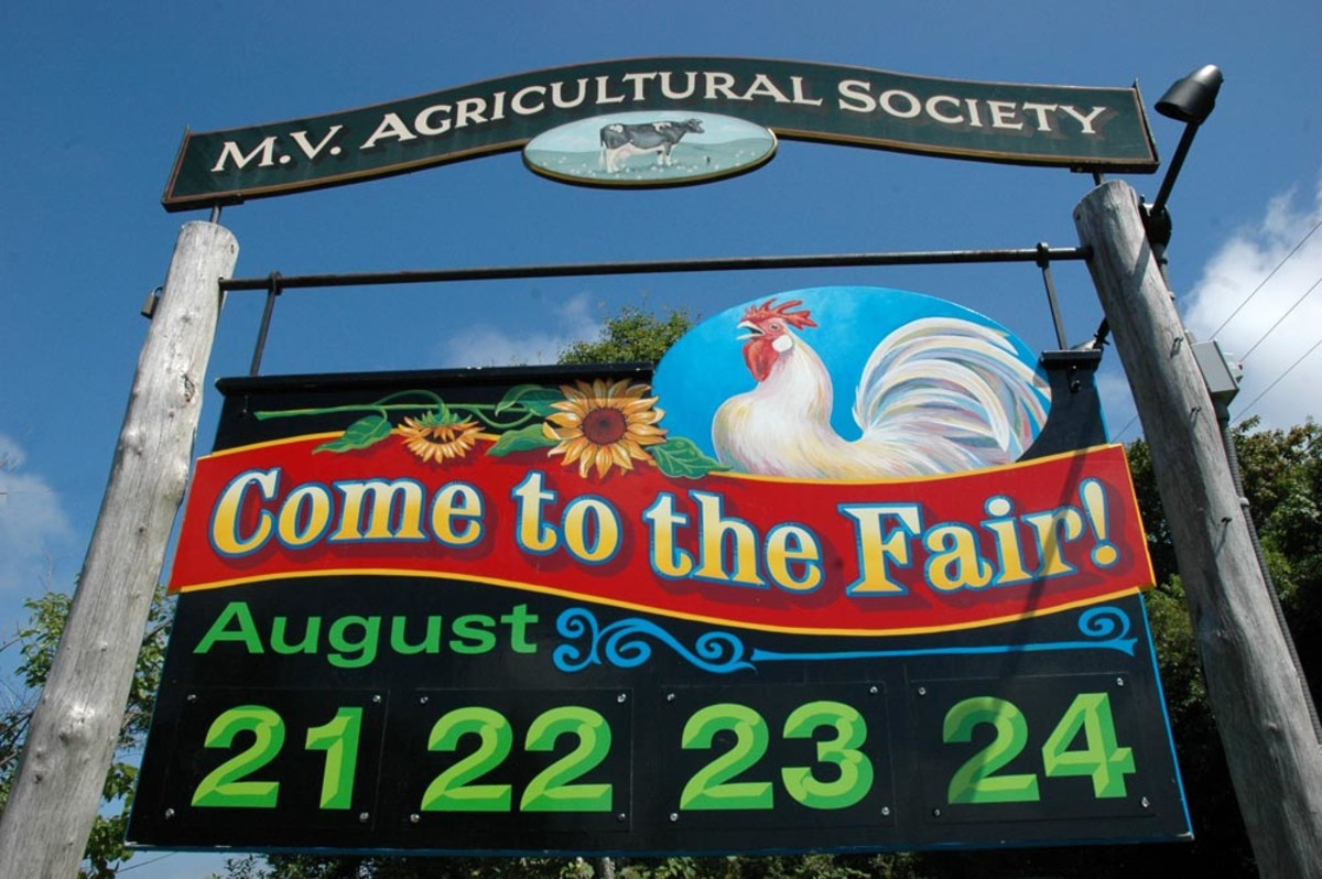 West Tisbury Agricultural Fair Sign